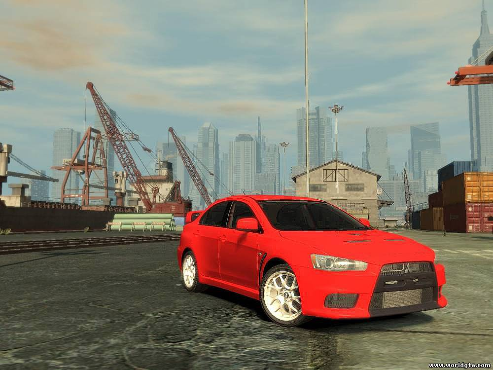 Mitsubishi Evolution X для GTA 4