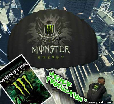 Monster Energy парашют для GTA 4